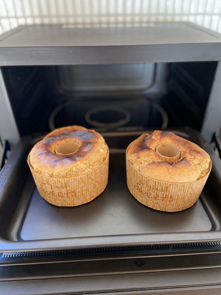 バルミューダでシフォンケーキを焼く