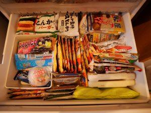 松屋福袋でいっぱいの冷凍庫