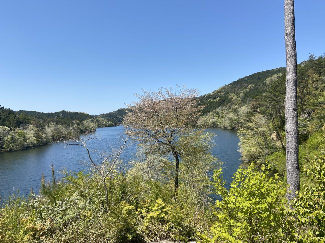 三河湖園地から眺める三河湖